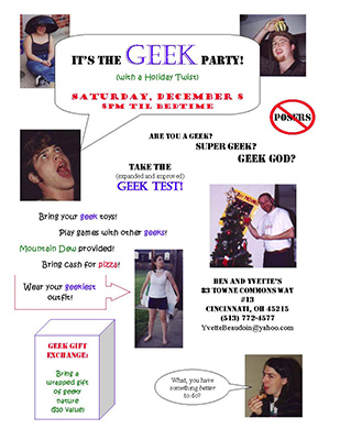 Geek Party invitation